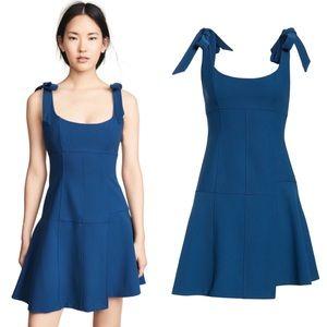 cinq a sept Dresses - CINQ A SEPT Jeanette Bow Lapis Blue Body Con Dress